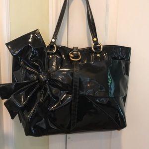 Valentino Garavini Signature Bow Patent Bag